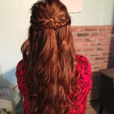 Banquet hair! bohemian pretty gorgeous!