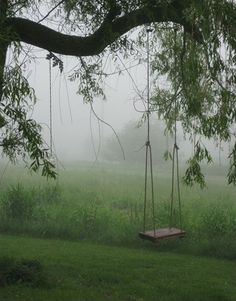 Tree swing- MUST have for our front yard!**** reminds me of my moms swing in her yard. Farm Life, Country Living, Country Life, Country Art, Wine Country, Belle Photo, The Great Outdoors, Mists, Outdoor Living