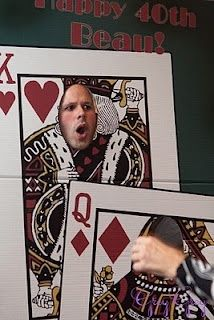 Casino Night ; photo booth idea, playing cards with hole in the face ; http://www.shindigz.com/party/casino-photo-stand-in/pgp/7v032r