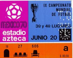 1970 WORLD CUP FINALS (3rd PLACE PLAY-OFF) GERMANY v URUGUAY