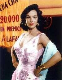 María Félix en un fotograma de la cinta Faustina, rodada en 1956 por José Luis Sáenz de Heredia