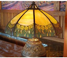 Handel Large Daffodil Table Lamp Mission Arts and Crafts | eBay