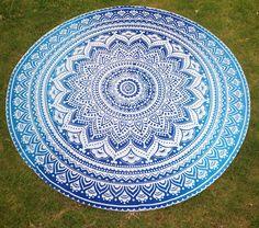 Round Mandala Indian Hippie Boho Tapestry Beach Picnic Throw Towel Mat Blanket #Unbranded