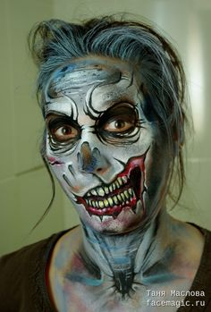 Zombie woman. Face paint by Tanya Maslova.