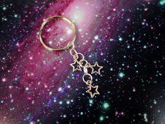 Falling Star Keychain / Pastel Goth Constellation Keychain / Kawaii Galaxy Star Charm Keychain / Grunge Space Keychain Purse Backpack Charm