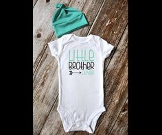 BEANIE & ONESIE Set / Little Brother Outfit / Newborn by iloveco