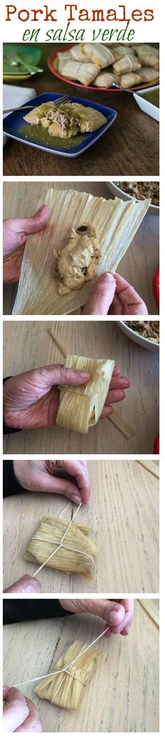 Pork tamales in salsa verde or casera. Delicious Mexican food recipes with Herdez #mexicanfood #salsa #tamales #latinfood | ethnicspoon.com