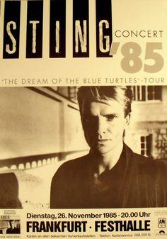 Sting Concert Poster https://www.facebook.com/FromTheWaybackMachine