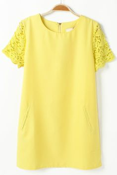 Lace Sleeve Chiffon Blouse - OASAP.com