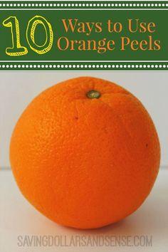 Unusal ways to use orange peels