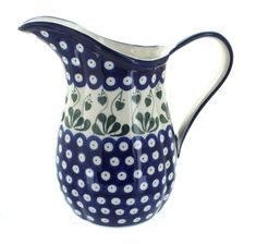 Blue Rose Polish Pottery Alyce Pitcher for sale online Rock Hill, Baker Shoes, Polish Pottery, Beautiful Hands, Stoneware, Ceramics, Rose, Ebay, Things To Sell