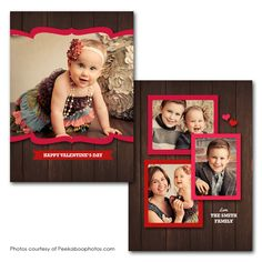 Love Deck Valentines Day Card Valentines Day Card Templates, Happy Valentines Day, Photo Cards, Family Photos, Deck, Photoshop, Album, Cover, Family Pictures