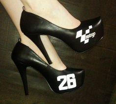 Heels I made for Dani Pedrosa
