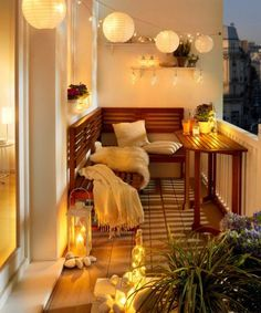 cozy balcony idea