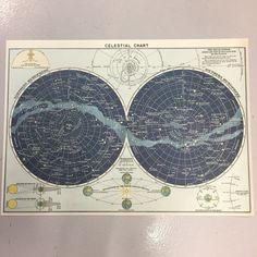 Celestial chart print