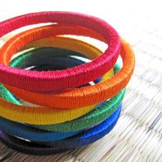 Rainbow jewelry  Rainbow Bracelet  Colorful by HippieKingdom, $65.00