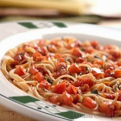 This Olive Garden Recipe for their Capellini Pomodoro tastes just like the real thing.