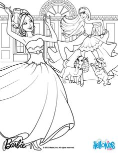 Tori Keira Are BFF Barbie Coloring Page More The Princess Popstar
