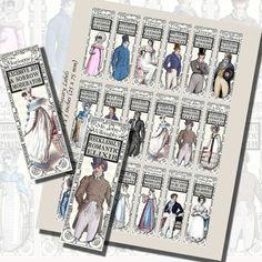 JANE AUSTEN NOVELS -- FANTASY APOTHECARY LABELS, BOTTLE LABELS-- Images,Digital,Stickers,Collage,Illustration,bottle,jane austen,potion labels,darcy,elizabeth bennet,pride and prejudice,labels