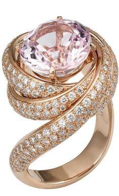 Cartier pink diamond ring