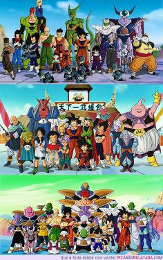 The characters from Dragonball Z