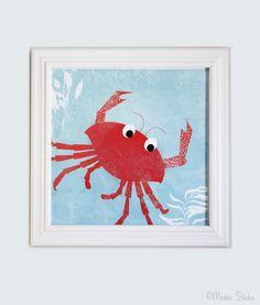 Crab Nursery Art Print