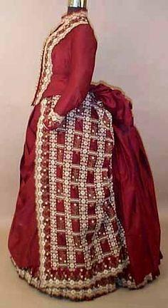 Dress, ca 1885, Karen Augusta Antique Lace & Fashion