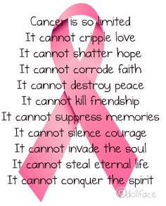 WHAT CANCER CANNOT DO....
