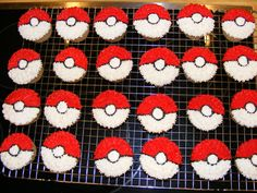 Pokemon Cupcakes - I made these for my son's class on his birthday. I got the idea from smuffin (thank-you!)