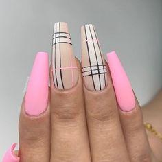 Kiara Sky Nails Re-Nude Rural St. – Care – Skin care , beauty ideas and skin care tips Acrylic Nails Coffin Short, Summer Acrylic Nails, Best Acrylic Nails, Acrylic Nail Designs, Striped Nail Designs, Dope Nail Designs, Coffin Nails, Summer Nails, Plaid Nails