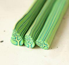 Polymer clay leaf cane 3ps by LyamayevaClay on Etsy