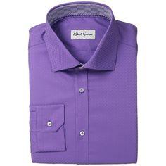 Robert Graham Rocky Dress Shirt (Purple) Men's Long Sleeve Button Up ($158) ❤…