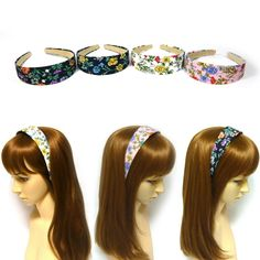Keep your hair well in place. Fabric and plastic. Floral Fabric, Floral Flowers, Fabric Patterns, Flower Patterns, Women Accessories, Fashion Accessories, Chain Headband, Alice Band, Metal Headbands