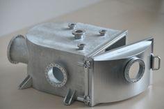 Vakuumkammer gedruckt im Polyjet-Verfahren und dann lackiert
