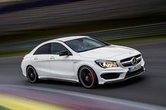 To compete with a line of luxury sport family sedans like the Audi A5 and the BMW 3-series GT, Mercedes has upped the ante offering the worlds most powerful turbocharged four-cylinder engine, in the Mercedes-Benz CLA 45 AMG. Boasting 360hp, racking up 0-62 in just 4.6 seconds and a electronically-limited top-speed of 155mph, in a four-wheel-drive, this family friendly car is a beast.