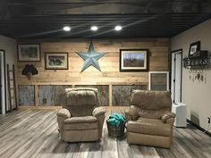 Rustic barnwood walls, tin walls, basement remodel man cave Sitting in a deta. Rustic barnwood walls, tin walls, basement remodel man cave Sitting in a detached house is an in Rustic Basement, Cedar Walls, Remodel, Basement Remodeling, Rustic Walls, Country House Decor, Tin Walls, Rustic House, Remodeling Floor Plans