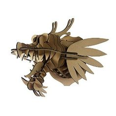 3D Puzzle Dragon Head / Animal Head Wall Mount Model Craft Adults DIY Cool Unique Birthday Presents Creative Gifts Nice Display for Home / Store / Bar / Coffee House Wall Decorations, more detail from Amazon