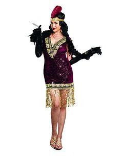 Womens Plus Size Boardwalk Flapper Roaring 20s Costume Set ...