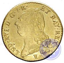Monnaie royale française double louis d'or tête nue 1786i Louis XVI prttb
