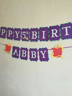 Trolls Birthday Banner Pink and Green Banner Trolls Themed Party