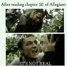 *SPOILER* Tris is dying at chapter 50