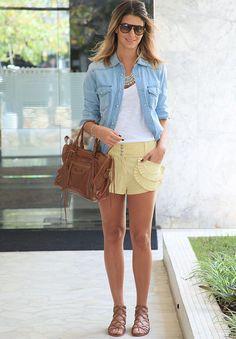 Yellow Shorts - Anna Fasano