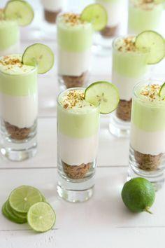Key Lime Cheesecake Shots Recipe from @sprinklebakes
