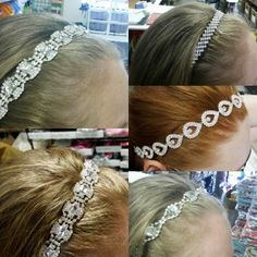 DIY Crystal #Rhinestone Trim Headband tutorial with all supplies needed to create these head pieces - inexpensive and just 3 steps!