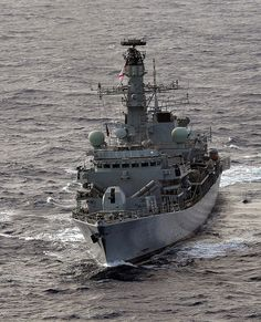 Royal Navy type 23 frigate HMS Richmond is pictured during an exercise.