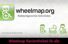 Die Wheelmap hilft Rollstuhlgerechte Orte zu finden.