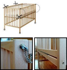 Ikea hacker turned an ikea crib into a co-sleeper crib. Genius! Love the simplicity of ikea cribs. Wish I would have gone that route with Karsten!