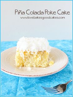 """Houston, we have a problem. Ok, maybe not a """"problem"""" problem . just an extreme obsession kinda problem - involving poke cakes. How many poke cakes does this Piña Colada poke Cake make - the third or Köstliche Desserts, Delicious Desserts, Dessert Recipes, Yummy Food, Yummy Recipes, Instant Pudding, Coconut Recipes, Baking Recipes, Coconut Desserts"""