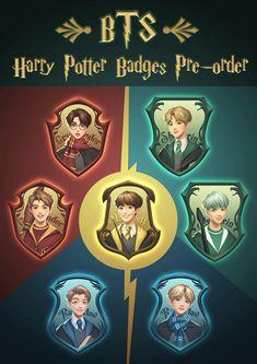 Bts as Harry Potter Version Harry Potter Anime, Bts Bangtan Boy, Bts Jimin, V Bts Wallpaper, Bts Backgrounds, Bts Drawings, Bts Korea, Bts Chibi, Bts Fans