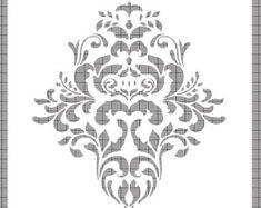 Grosse Wand Schablone Damaris Muster FAUX Wandbild 1005